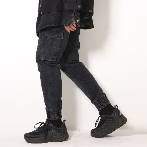 엑스톤즈 XP52 CARGO JOGGER DENIM PANTS (BLACK)